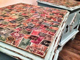 Decoupage nightstands matching pair by VintageBrocante