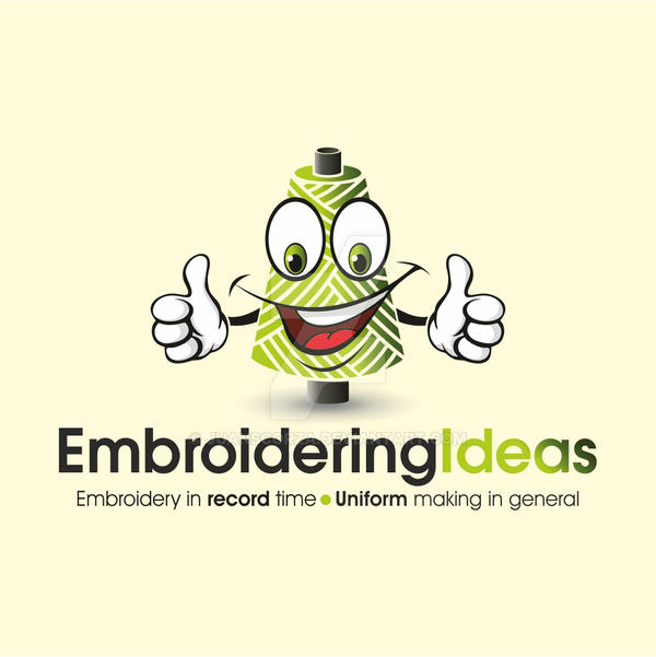 Embroidering Ideas Mascot by JuanScorza