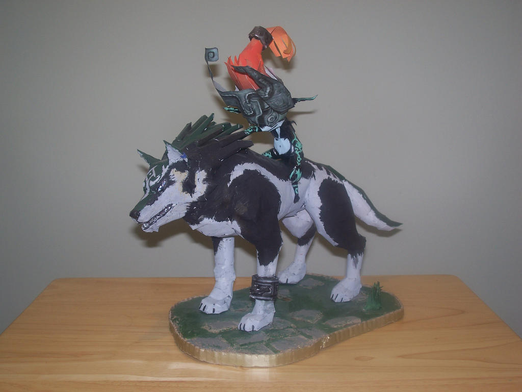 Wolf Link and Midna Papercraft by Arc-Caster135