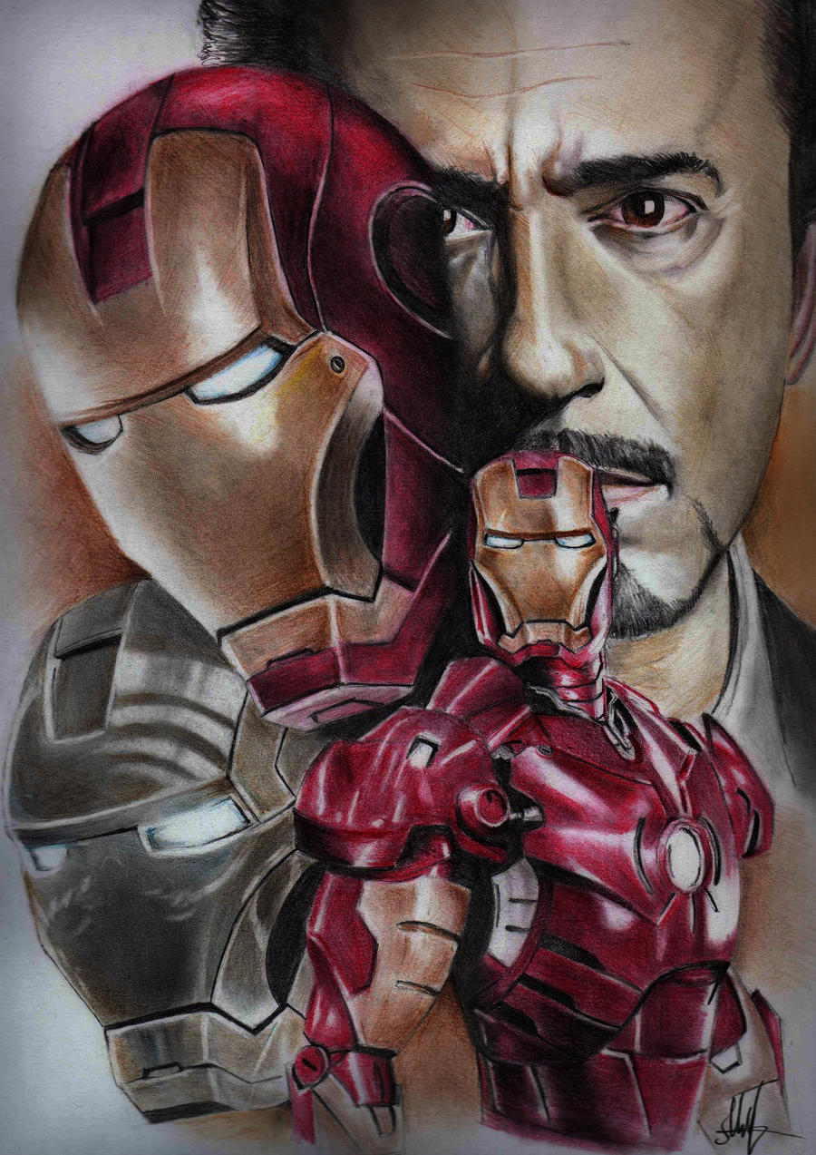 Iron Man Drawings In Color