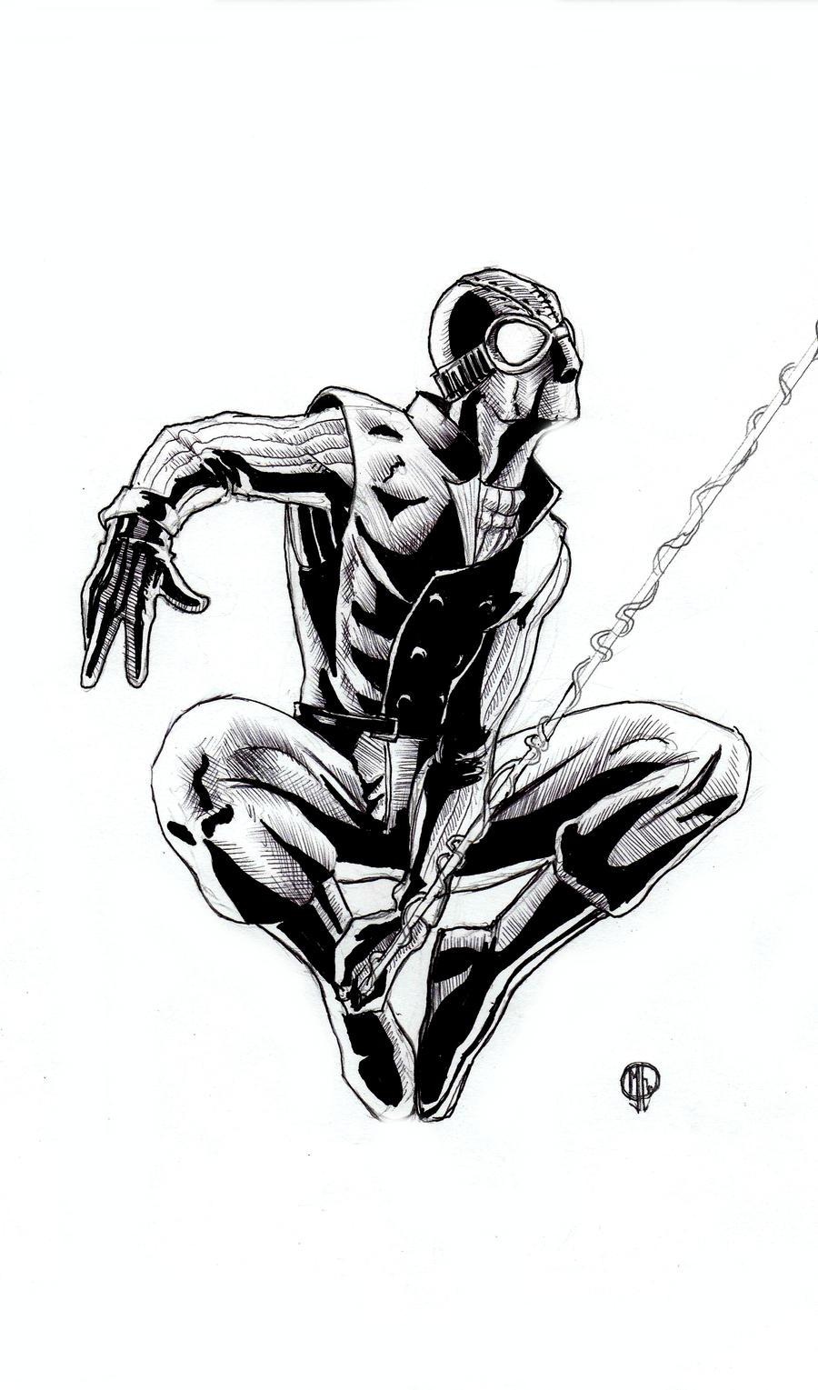 spider man noir sketch by muhammedfeyyaz on deviantart