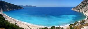 Myrtos Beach Panorama
