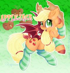 Applejack Bat Pony by Silent-Shadow-Wolf