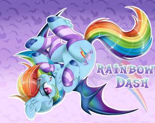 Rainbow Dash (Bat Pony Series) by Silent-Shadow-Wolf