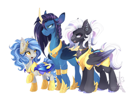 Starry Trio by Silent-Shadow-Wolf