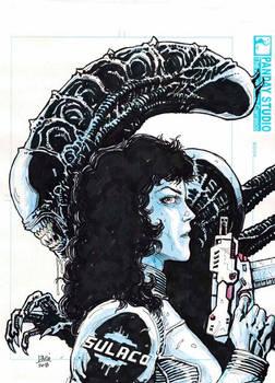 Ripley-Alien Sketch