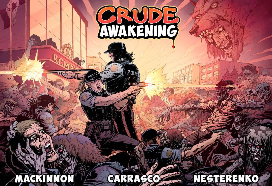 CRUDE AWAKENING - Double-spread action