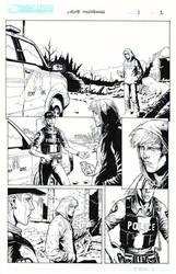 CRUDE AWAKENING - Page 1 inked by Darry