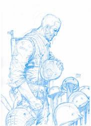 Warm up sketch: SGT. ROCK in Death of Easy