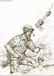 Bye-Grenade Pin Up by Darry