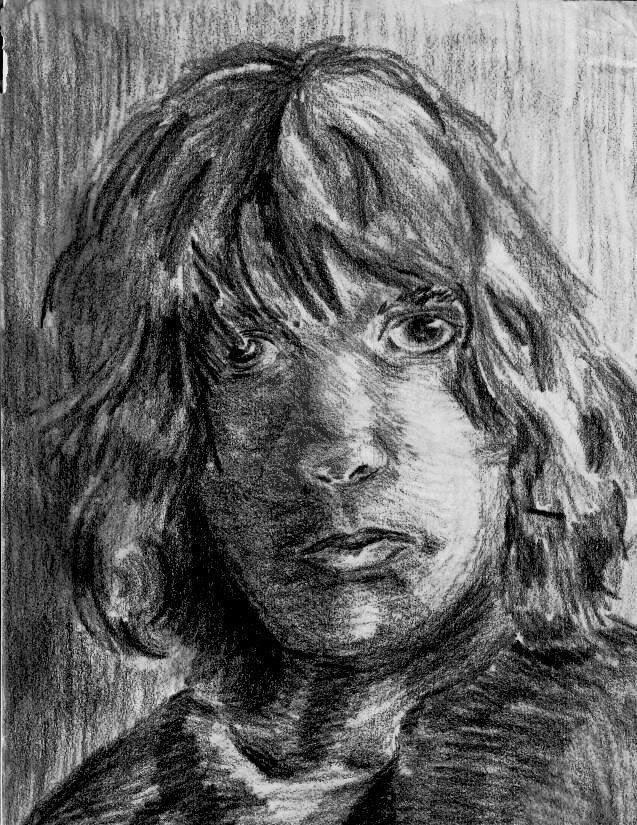 Self Portrait BW by Kastil