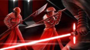 Star Wars The Last Jedi battle