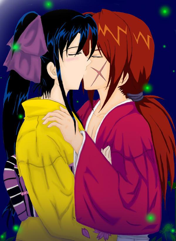 Kenshin x Kaoru Kiss by HitomiJaejoong on DeviantArt