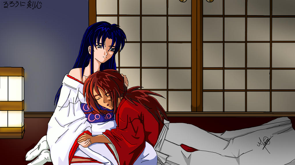 Kenshin x Kaoru - good night by HitomiJaejoong on DeviantArt