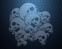Regal Blue Skulls by darkmaster07