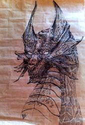 Black Dragon by goddessillyria
