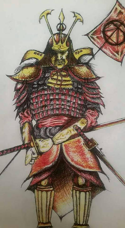 Golden Samurai by GrimeBag