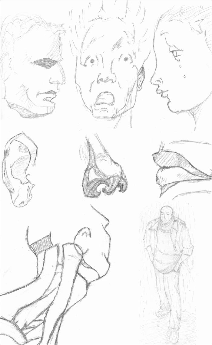 A Few Study Sketches by BacklashCBD