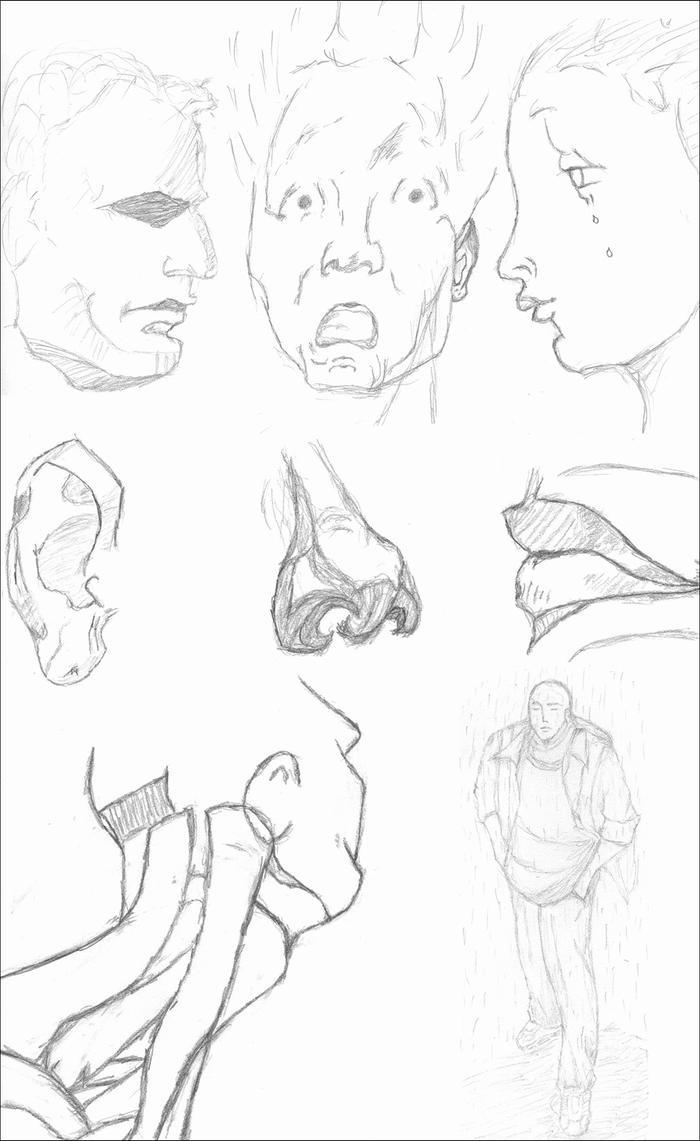 A Few Study Sketches by BacklashCBD