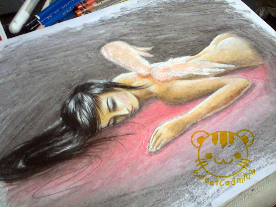 crayon on 9x12 canson paper by idielastyr