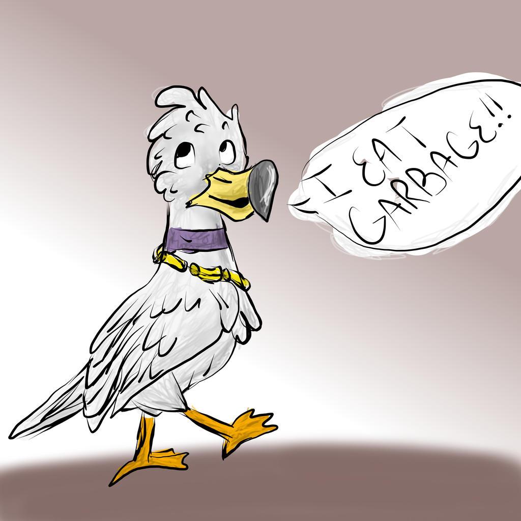 Jimmy the Trashy Gull by Steampunk-Lark