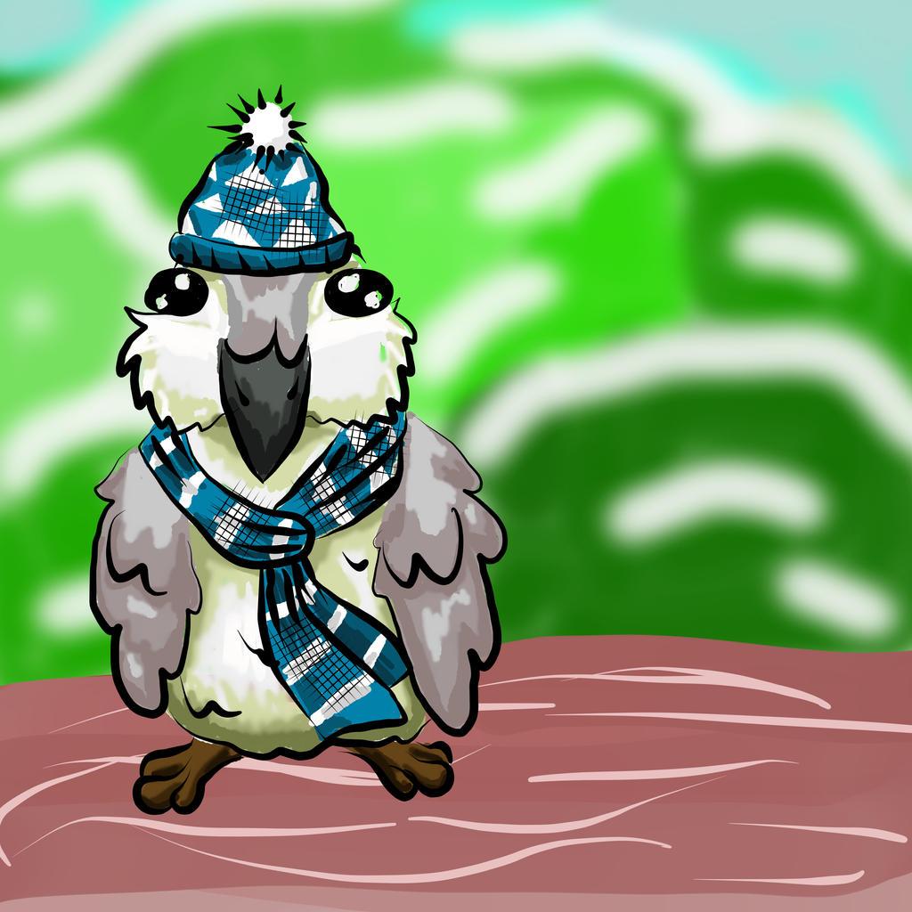 A Chubby Winter Bird by Steampunk-Lark