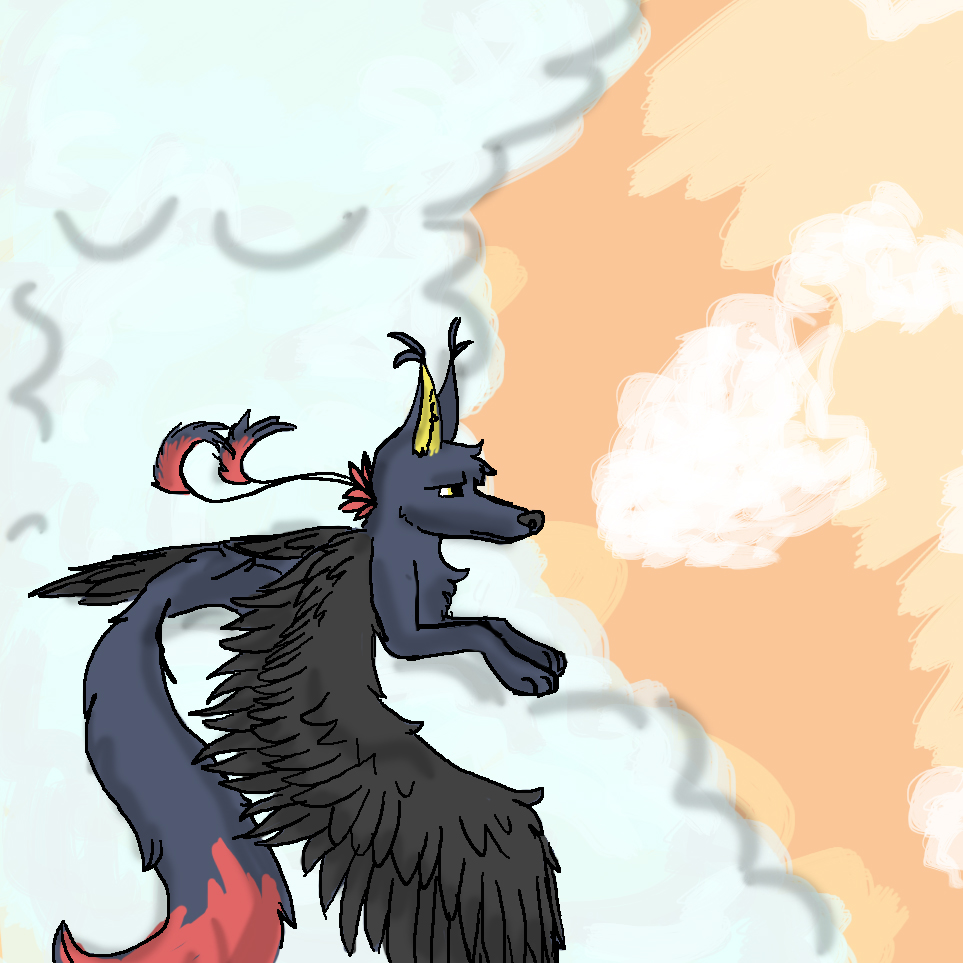Wolf in Clouds by Steampunk-Lark