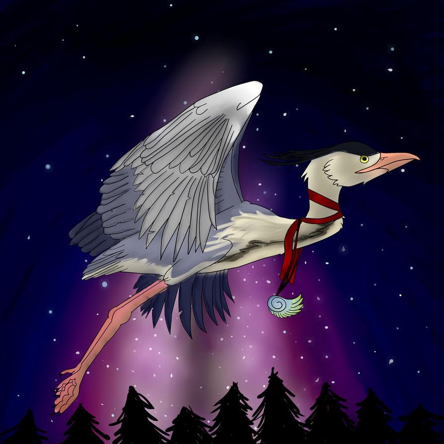 Blue heron by Steampunk-Lark