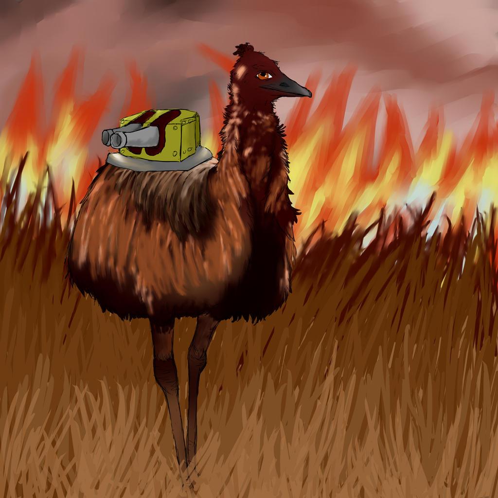The Great Emu War by Steampunk-Lark