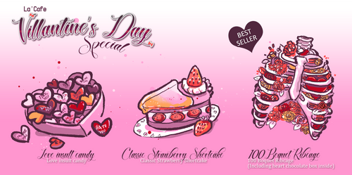 La' Cafe Villantine day Special Menu