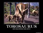 Torosaurus Demotivation Poster