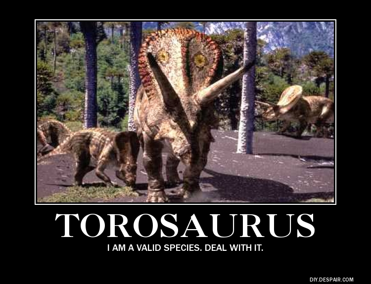 Torosaurus Demotivation Poster by Haxorus54