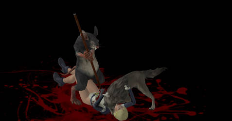 Ratman-wolf Kill by austinwolfclaw