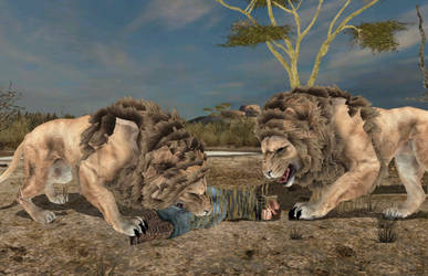 CDH 2011 Lion Kill (Photoshopped) by austinwolfclaw