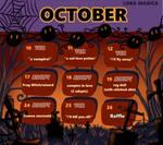 (closed) October calendar 2018 + raffle