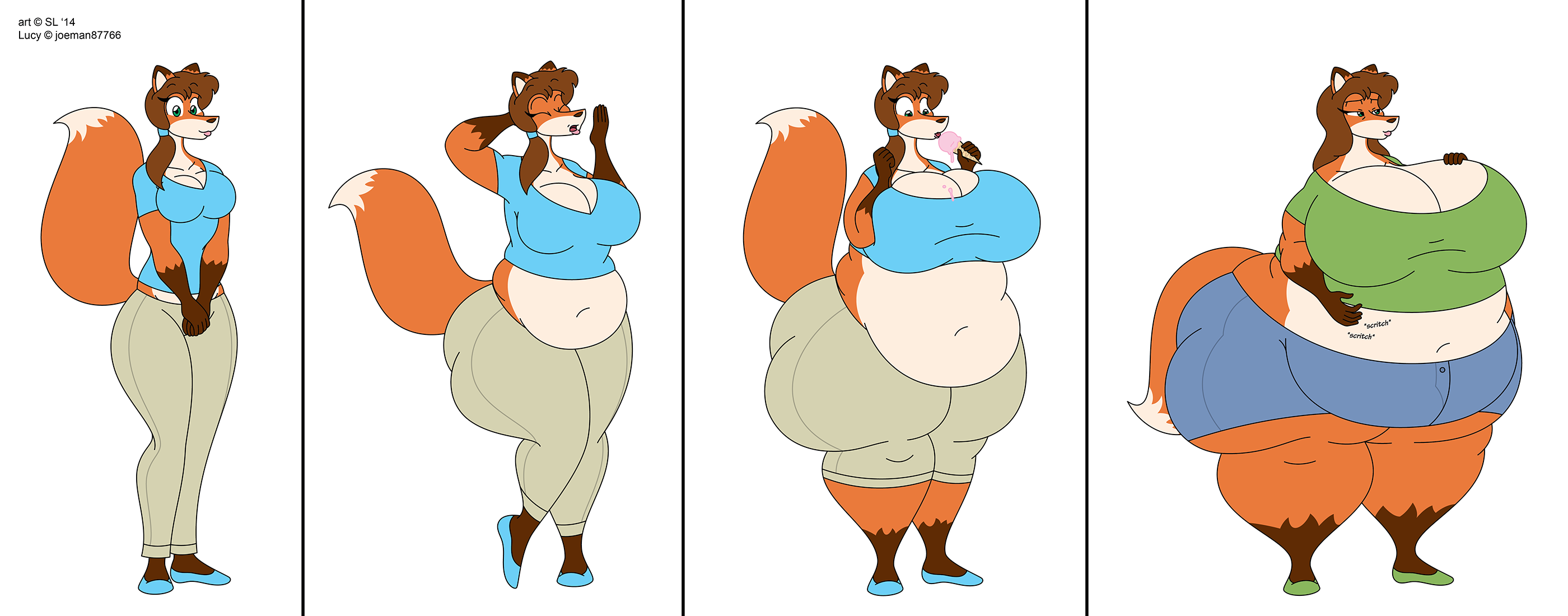 Fat Fur Weight: A Fattening Vixen: Part 1 By SatsumaLord On DeviantArt