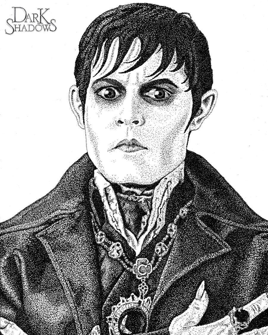 Barnabas Collins Pointillism Portrait by mal42087