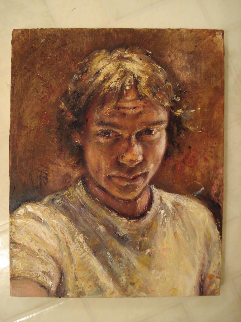 Self-portrait, update.. so far by RobeG27