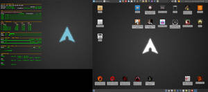 July 2015 Desktop - Arch Linux and Xfce by hamishpaulwilson