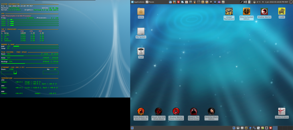 January 2016 Desktop - Arch Linux and Xfce by hamishpaulwilson on ...