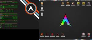 April 2016 Desktop - Arch Linux and Xfce