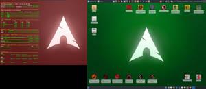 December 2016 Desktop - Arch Linux and Xfce