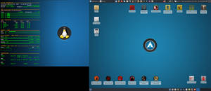 February 2017 Desktop - Arch Linux and Xfce
