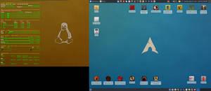 April 2017 Desktop - Arch Linux and Xfce