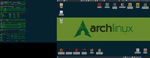 September 2017 Desktop - Arch Linux and Xfce