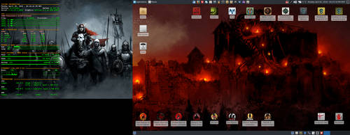 April 2018 Desktop - Arch Linux and Xfce by hamishpaulwilson