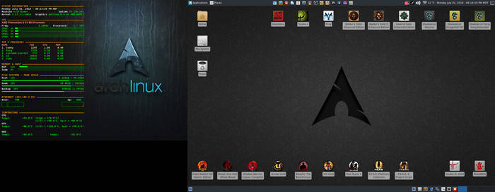 July 2018 Desktop - Arch Linux and Xfce by hamishpaulwilson