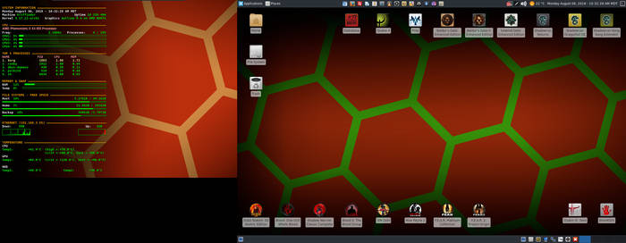 August 2018 Desktop - Arch Linux and Xfce by hamishpaulwilson
