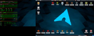 November 2018 Desktop - Arch Linux and Xfce