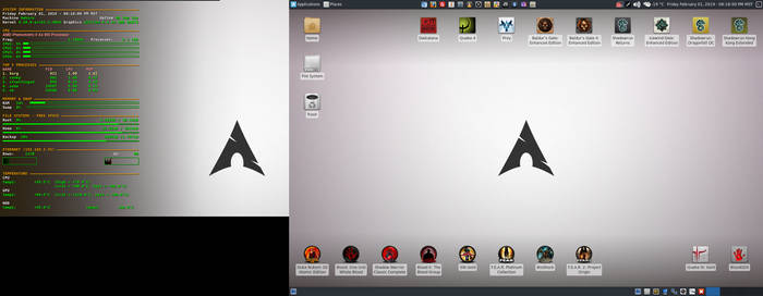 February 2019 Desktop - Arch Linux and Xfce by hamishpaulwilson